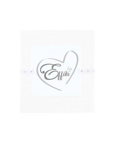 Effiki - Prześcieradło na przewijak i do wózka 100% bawełny - Białe
