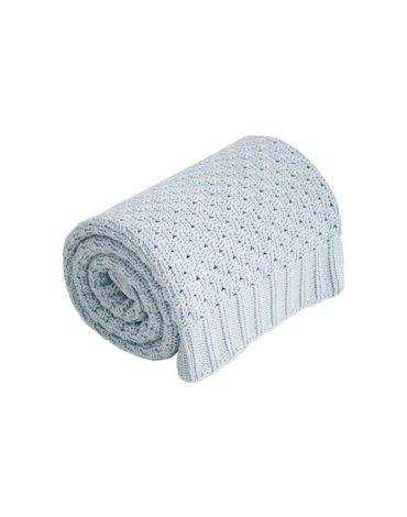 Effiki - Kocyk niebieski 100 % bawełna