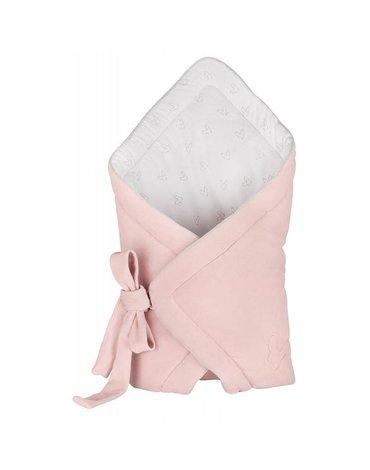 Effiki - Komplet - różowy aksamitny rożek + czapeczka