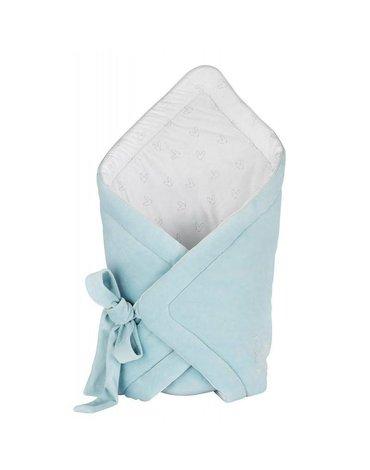 Effiki - Komplet - niebieski aksamitny rożek + czapeczka