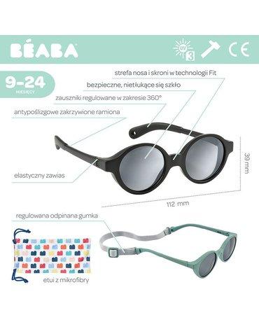 Beaba Okulary przeciwsłoneczne dla dzieci 9-24 miesięcy Black