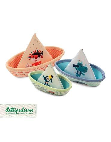 LILLIPUTIENS 3 łódeczki do kąpieli Dżungla 6 m+