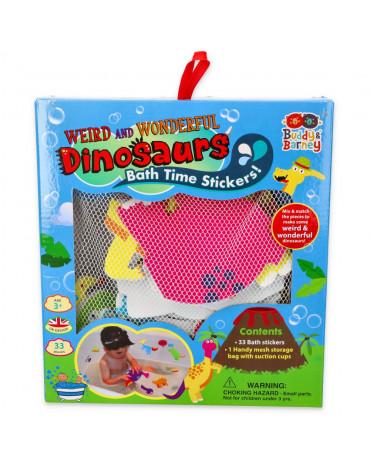 Buddy  & Barney - Naklejki do kąpieli Szalone dinozaury