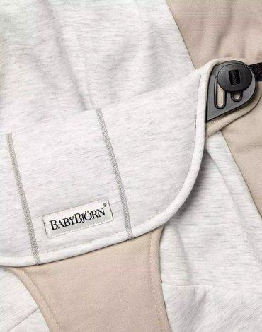 BABYBJORN - poszycie do leżaczka Balance Soft, Beige/Grey, Cotton/Jersey