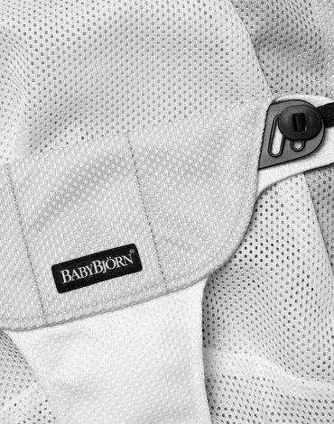 BABYBJORN - poszycie do leżaczka Balance Soft, Silver/White, Mesh