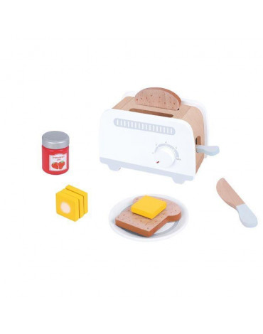 Lelin - Drewniany toster szary zabawka dla dziecka