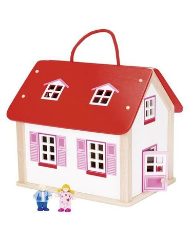 Goki® - USZKODZONE OPAKOWANIE Domek dla lalek z uchwytem