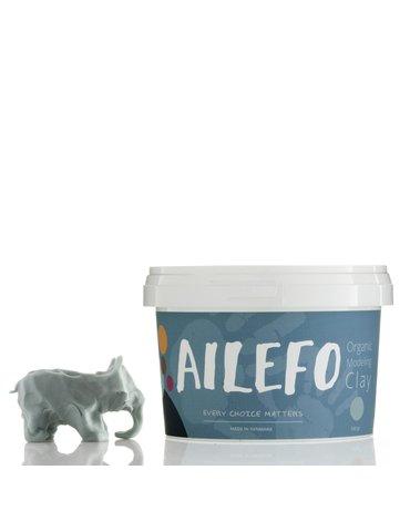 Ailefo, PROMOCJA 50%, Organiczna Ciastolina, duże opakowanie, niebieski, 540g, TERMIN WAŻNOŚCI 23.10.2021