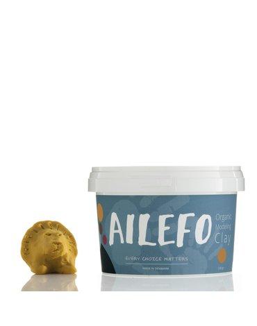 Ailefo, PROMOCJA 50%, Organiczna Ciastolina, duże opakowanie, żółty, 540g, TERMIN WAŻNOŚCI 29.10.2021