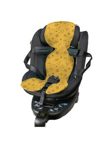 Kuli-Muli - Wkładka antypotowa do fotelika samochodowego 9-18 kg - żółta
