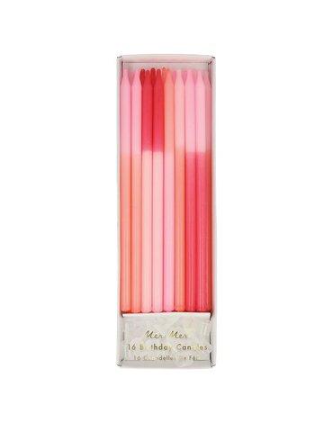 Meri Meri - Świeczki Colour Block różowe