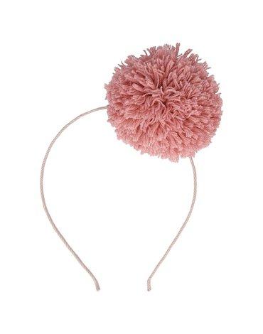 Meri Meri - Opaska do włosów Pompon różowy