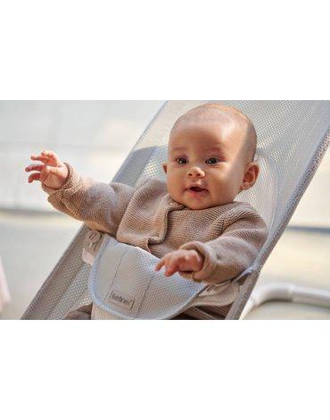 BABYBJORN - leżaczek BALANCE SOFT MESH - Szary/Biały