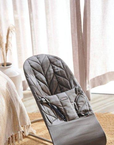 BABYBJORN - leżaczek BLISS COTTON, Petal Quilt, Antracyt