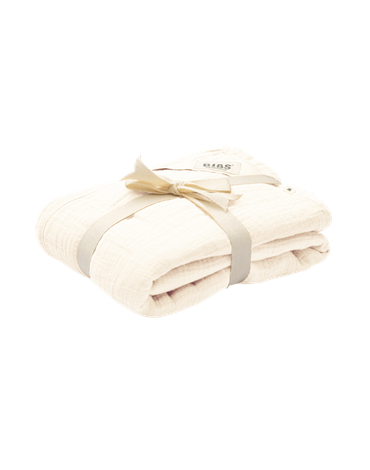 BIBS Kocyk letni 100% GOTS organic cotton 120 x 120 Ivory