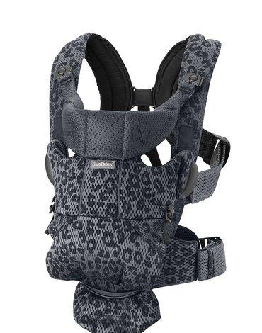 BABYBJORN MOVE 3D Mesh - nosidełko, Antracyt/Leopard