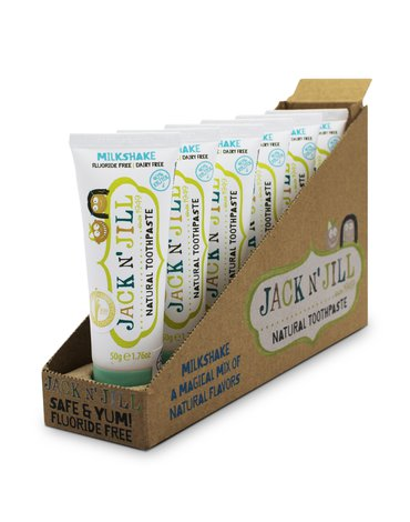 JACK N' JILL - Jack N'Jill, Naturalna Pasta do zębów, Milkshake, 50g - KARTON, 6 szt.