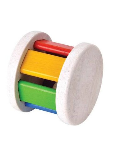 USZKODZONE OPAKOWANIE Drewniana grzechotka Roller, Plan Toys®