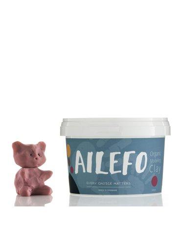 Ailefo, Organiczna Ciastolina, duże opakowanie, róż, 540g TERMIN WAŻNOŚCI 07.11.21