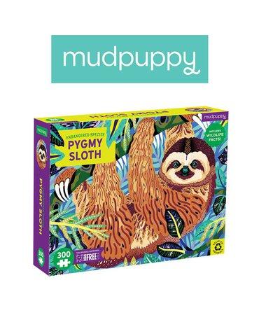 Mudpuppy Puzzle edukacyjne Zagrożone gatunki Leniwiec karłowaty 300 elementów 7+