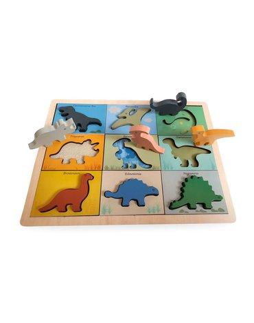 Magni - Drewniana układanka Dinozaury