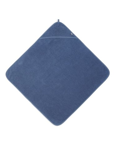 Jollein - Baby & Kids - Jollein - Ręcznik kąpielowy z kapturem 75 x 75 cm FROTTE JEANS BLUE