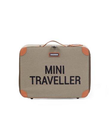Childhome Walizka dziecięca Mini traveller Kanwas Khaki