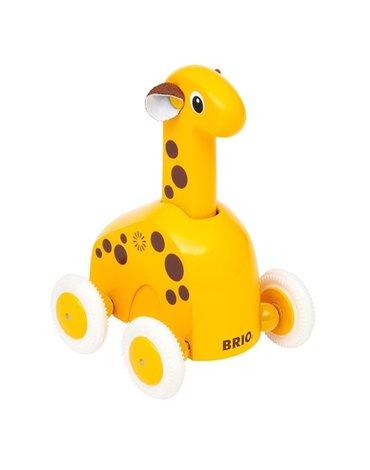 BRIO Drewniana Zabawka do Pchania Żyrafa