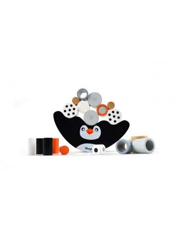 Magni - Balansujący Pingwinek - drewniana gra zręcznościowa