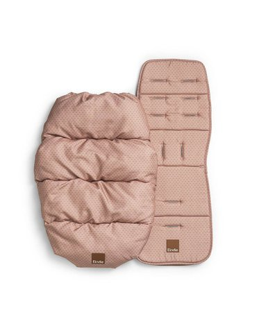 Elodie Details - śpiworek i wkładka do wózka 2w1 - Pink Noveau