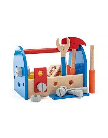 Woodyland Woody - Drewniany zestaw z narzędziami