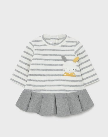 Mayoral - Sukienka w paski dla noworodka dziewczynki