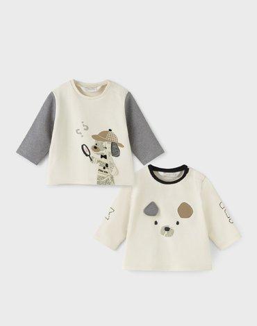 Mayoral - Zestaw koszulek dla noworodka chłopca