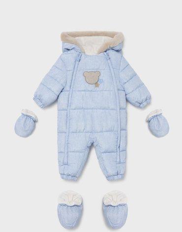 Mayoral - Kombinezon ECOFRIENDS mikrofibra dla noworodka chłopca