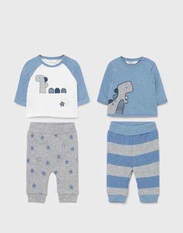 Mayoral - Komplet ECOFRIENDS z dzianiny 4 częściowy dla noworodka chłopca