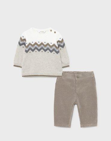 Mayoral - Komplet ECOFRIENDS sweter ze spodniami dla noworodka chłopca
