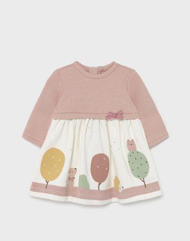 Mayoral - Sukienka łączona dla noworodka dziewczynki