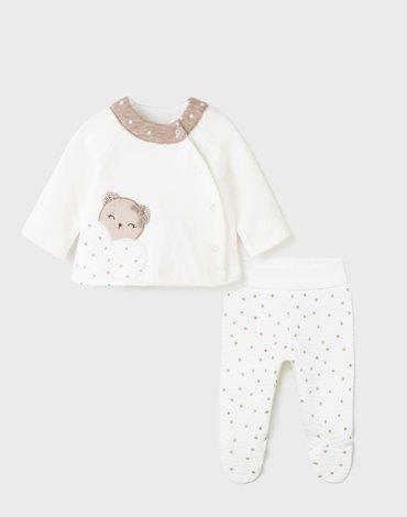 Mayoral - Komplet z półśpioszkami dla noworodka dziewczynki