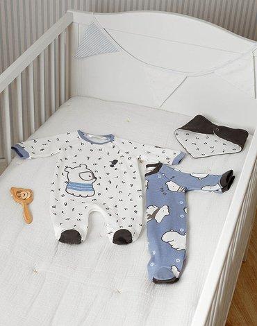 Mayoral - Zestaw 2 piżamek ze śliniaczkiem dla noworodka chłopca