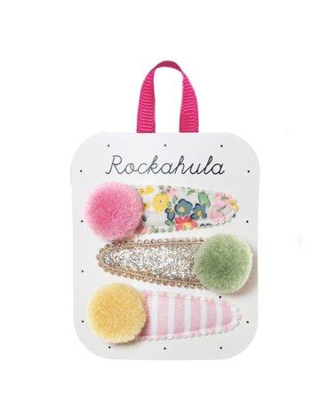 Rockahula Kids - 3 spinki do włosów Secret Garden Pom Pom