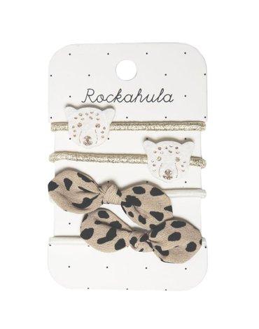 Rockahula Kids - 4 gumki do włosów Lily Leopard