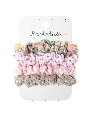 Rockahula Kids - 4 gumki do włosów Secret Garden Scrunchie