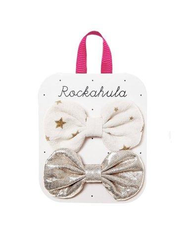 Rockahula Kids - 2 spinki do włosów Scattered Stars Bow Ivory