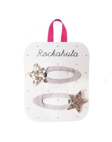 Rockahula Kids - 2 spinki do włosów Stardust Glitter Gold