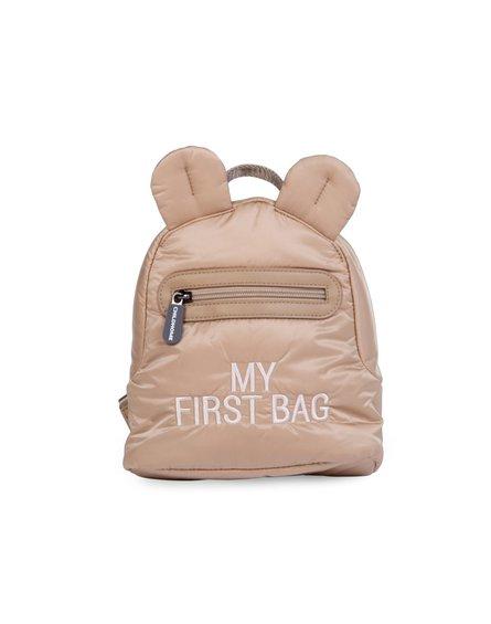 Childhome Plecak dziecięcy My first bag Pikowany Beżowy