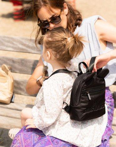 Childhome Plecak dziecięcy My first bag Pikowany Czarny CHILDHOME