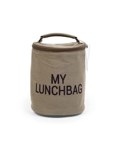 Childhome Śniadaniówka My lunchbag Kanwas Khaki CHILDHOME