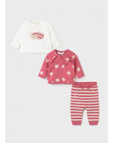 Mayoral - Dres 3 częściowy ECOFRIENDS dla noworodka dziewczynki