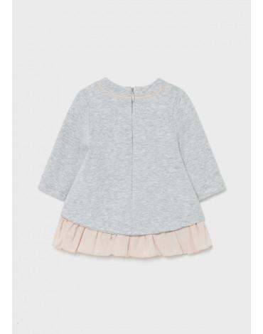 MAYORAL - Sukienka ECOFRIENDS dzianina drapana dla noworodka dziewczynki