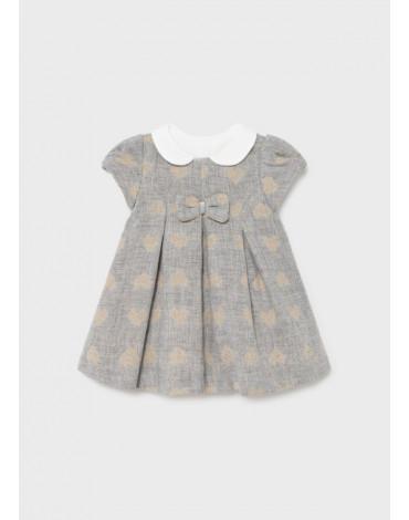 MAYORAL - Sukienka żakardowa dla noworodka dziewczynki